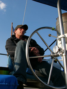 Me, underway from Atlantic Highlands to Cape May.